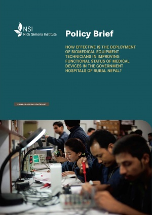 Policy Brief - Effectiveness of the Deployment of BMET in Rural Hospital