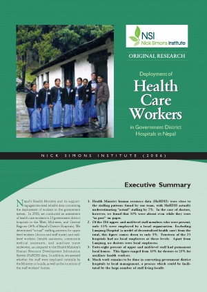 Deployment of Health Care Workers in Government District Hospitals in Nepal