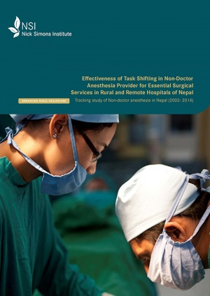 Effectiveness of Task Shifting in Non-Doctor Anesthesia Provider