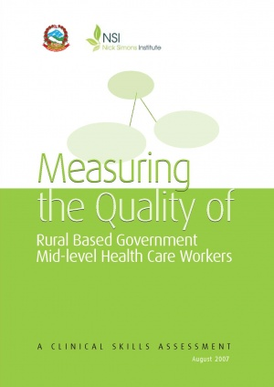 Measuring the Quality of Rural Based Government Mid Level Health Care Workers