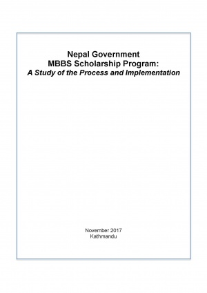 Nepal Government MBBS Scholarship Program: A Study of the Process and Implementation
